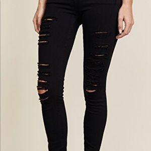Frame le color distressed jeans